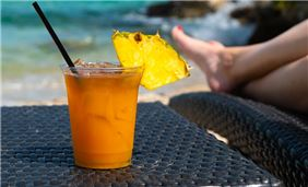 Cocktail at Pier House Resort & Spa, Key West Florida