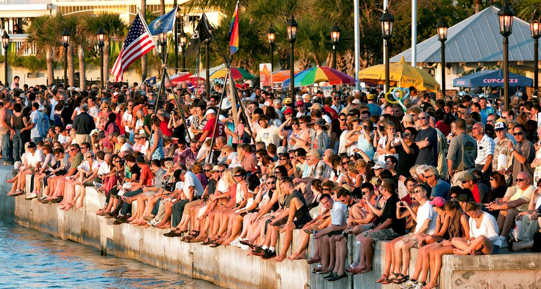 Sunset Celebration at Mallory Square of Key West, Florida