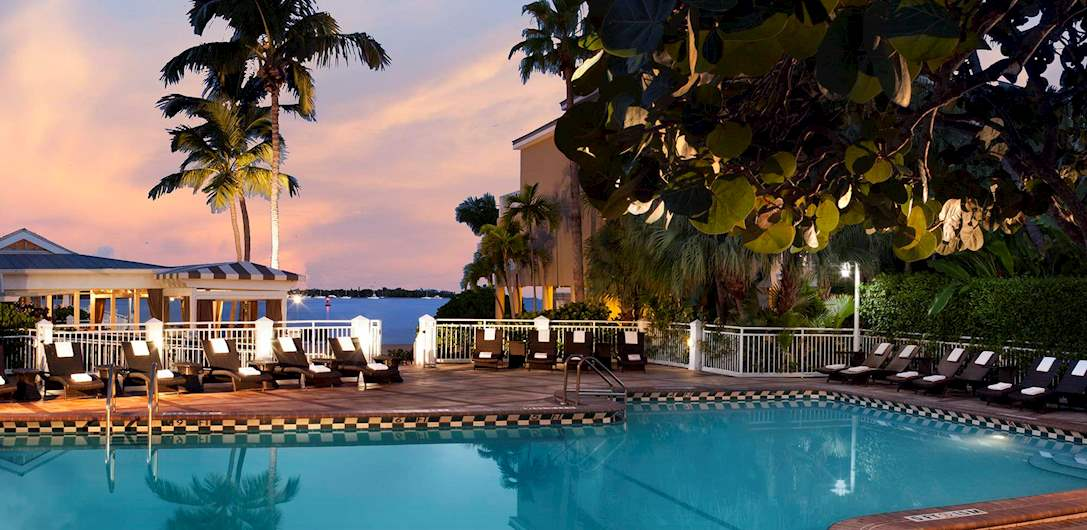Swimming Pool of Pier House Resort & Spa, Key West Florida